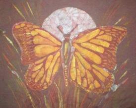 Monarch moon - batik
